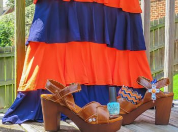 Fashion Shots Fall Auburn Tiered Ruffle Game Day Dress