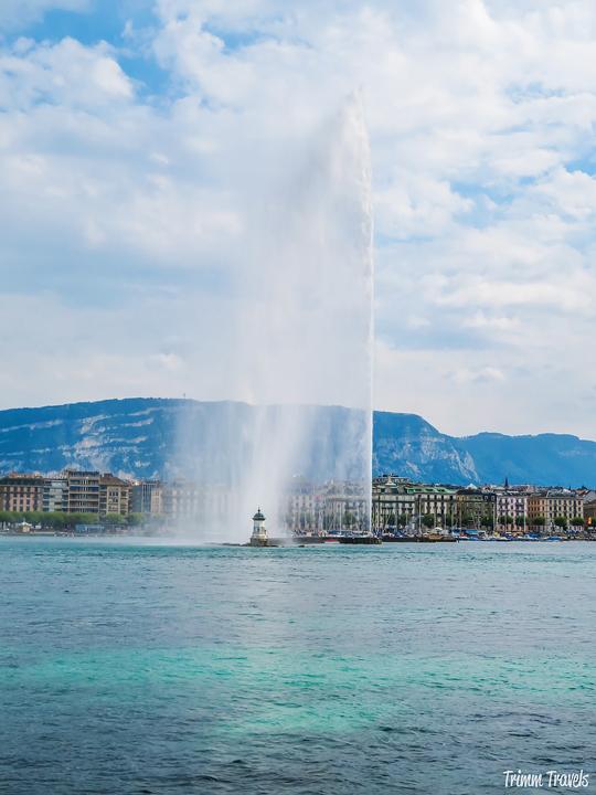 Lake Geneva and the Jet d'Eau