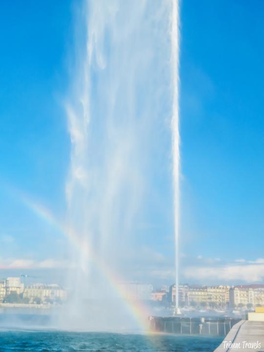 Jet d'Eau with Rainbow Geneva