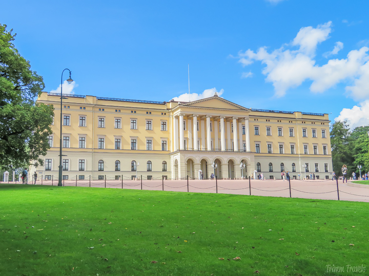Royal Palace in Oslo Norway