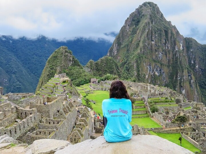 me looking out over machu picchu peru